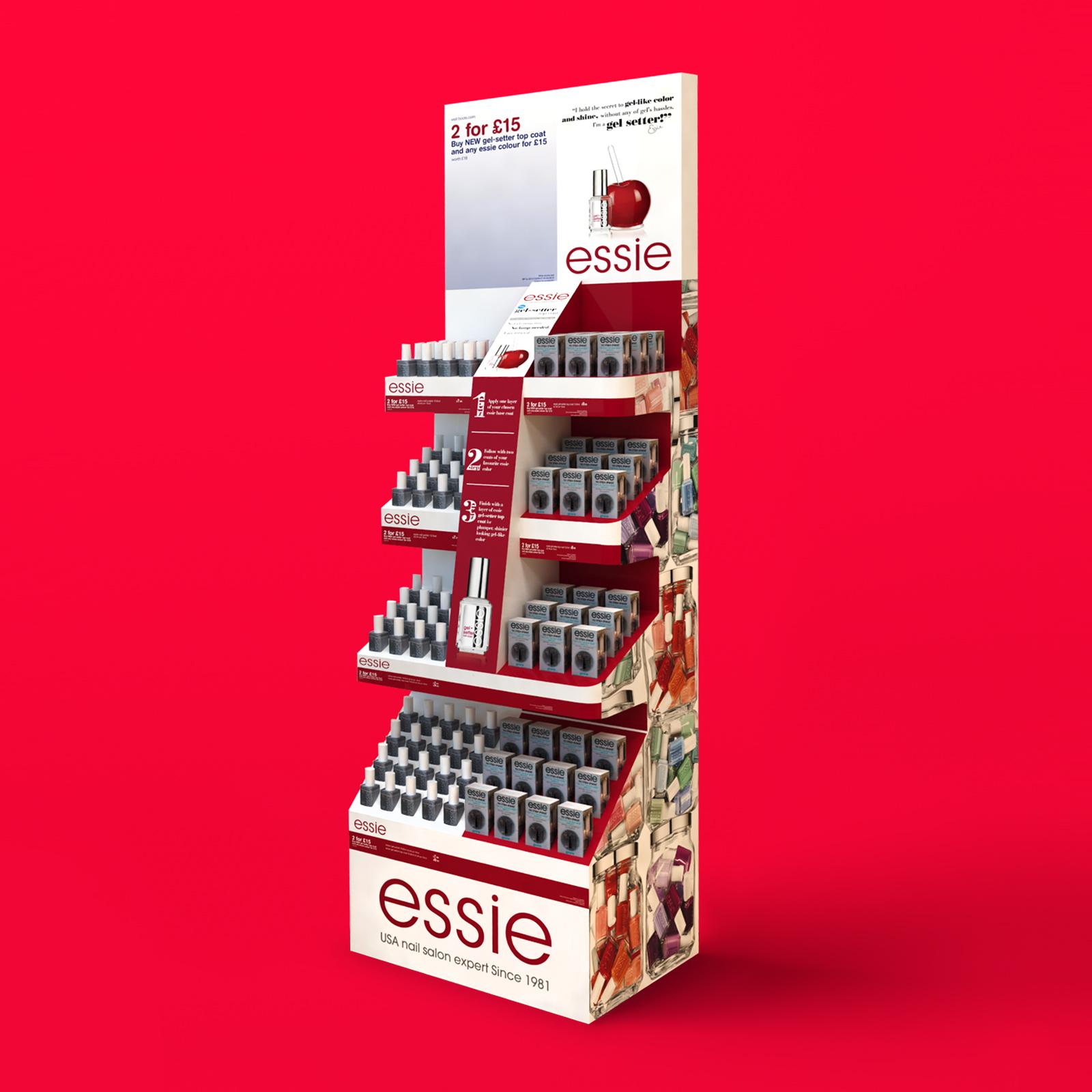 Essie Gel-Setter Free Standing Display Unit